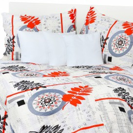 Posteľné obliečky bavlnené Červené papradie