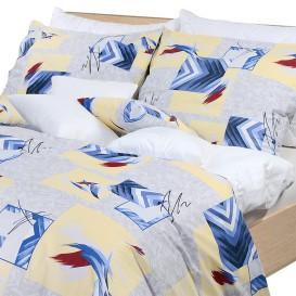 Posteľné obliečky bavlnené Modrý abstrakt