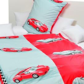 Posteľné obliečky bavlnené Červené autá