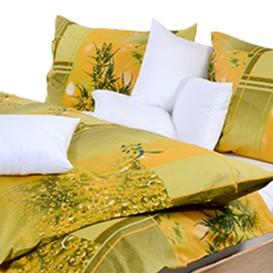 Posteľné obliečky bavlnené Zelené listy