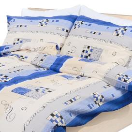 Posteľné obliečky bavlnené Modrý tetris