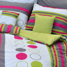 Posteľné obliečky bavlnené Farebné kruhy