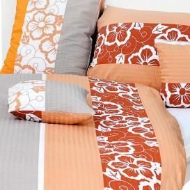 Posteľné obliečky krepové Oranžové kvety