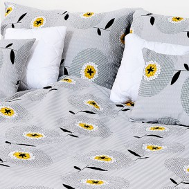 Posteľné obliečky krepové Bieložlté kvety