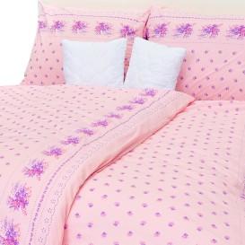 Posteľné obliečky bavlnené Ružový vintage