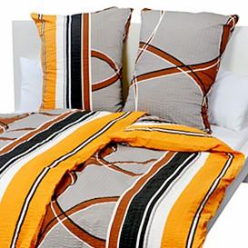 Posteľné obliečky bavlnené Oranžový abstrakt