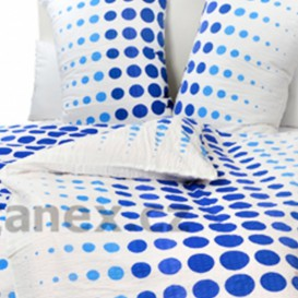 Posteľné obliečky krepové Modrobiele bodky