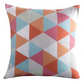 Obliečka na vankúš  Farebné trojuholníky 40x40cm