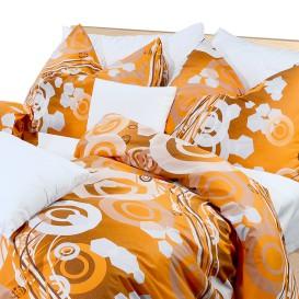 Posteľné obliečky krepové Oranžové kruhy