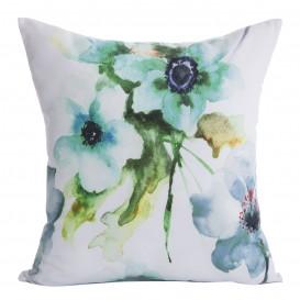 Obliečka na vankúš Akvarelové kvety 40x40cm