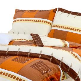 Posteľné obliečky krepové Hnedé kocky