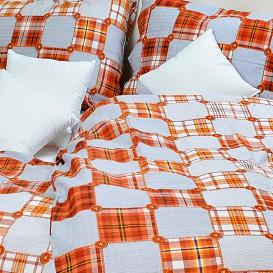 Posteľné obliečky krepové Oranžové gombíky