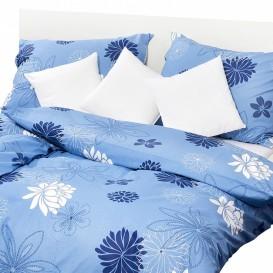 Posteľné obliečky krepové Modré kvetiny