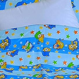 Detské posteľné obliečky bavlnené Modré hviezdičky