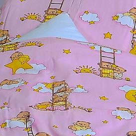 Detské posteľné obliečky bavlnené Ružové