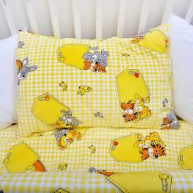 Detské posteľné obliečky bavlnené Zvieratká v kapse