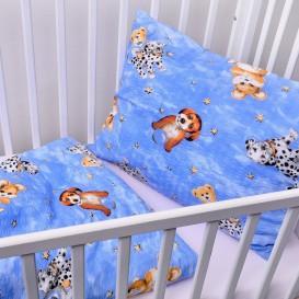 Detské posteľné obliečky krepové Dalmatín