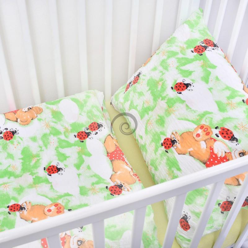 c7f0b9ba1 Detské posteľné obliečky krepové Zelené lienky | preinterier.sk