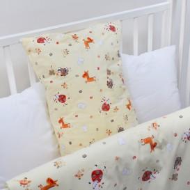 Detské posteľné obliečky krepové Žlté zvieratká