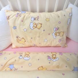 Detské posteľné obliečky krepové Medvedík
