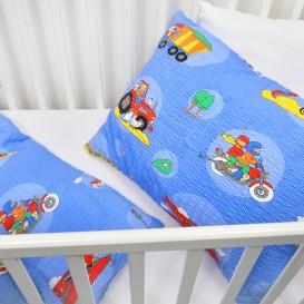Detské posteľné obliečky krepové Autá