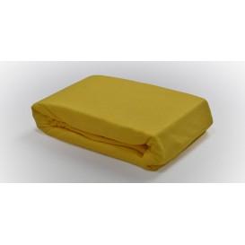Posteľné prestieradlo froté napínacie žlté