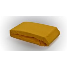 Posteľné prestieradlo froté napínacie tmavo žlté