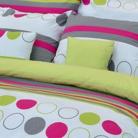 Posteľné obliečky krepové Farebné kruhy