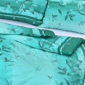 Posteľné obliečky krepové Tyrkysové kvety