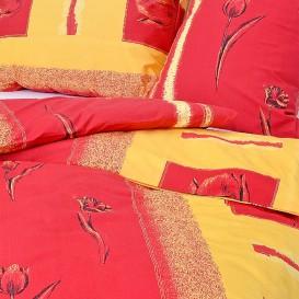 Posteľné obliečky bavlnené Červenožltý kvet