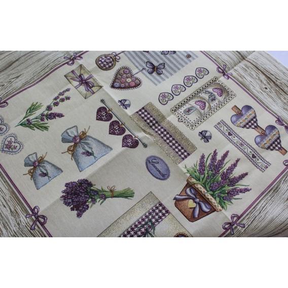 Gobelínový obrus Levanduľový stôl