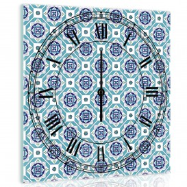 Nástěnné hodiny - NH0325 - Modré ornamenty
