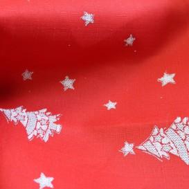 Teflónový obrus Vianočný červený stromčeky