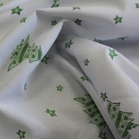 Teflónový obrus Vianočný bielo-zelený stromčeky