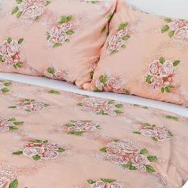 Posteľné obliečky bavlnené Béžové ruže