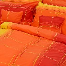 Posteľné obliečky bavlnené Oranžové pásy