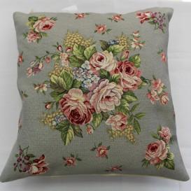 Gobelínová obliečka Romantické ruže sivé