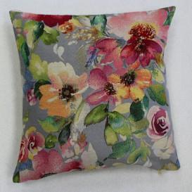 Gobelínová obliečka  43x43cm Akvarelové kvety