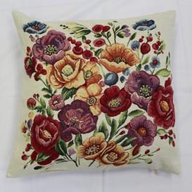 Gobelínová obliečka  43x43cm Šialene farebné kvety
