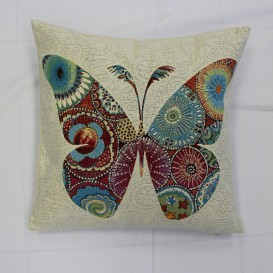 Gobelínová obliečka  43x43cm kráľ Motýľ