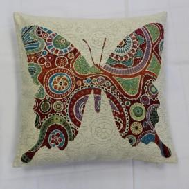 Gobelínová obliečka  43x43cm Motýlia kráľovná