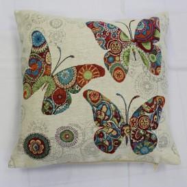 Gobelínová obliečka  43x43cm veselé motýle