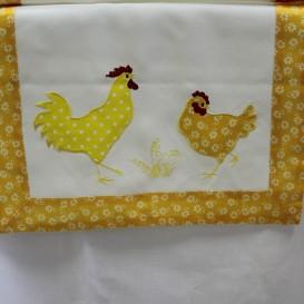 Veľkonočný obrus Žltý kohú a sliepočka
