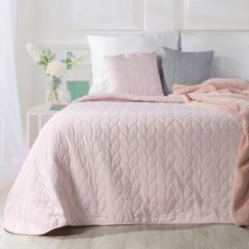 Prehoz na posteľ ružový Júlia