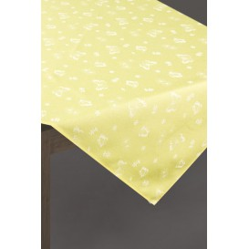 Obrus žltý Motýle 85x85