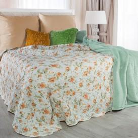 Prehoz na posteľ oranžové ruže 220cmx240cm