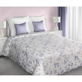 Prehoz na posteľ fialové kvety 220cmx240cm