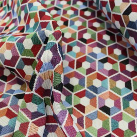 Gobelínová metráž Hexagony š.140cmx1cm