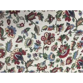 Gobelínová metráž Červené kvety š.140cmx1cm
