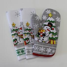 Vianočná sada sivá